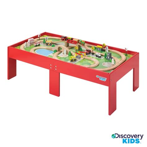 train table set for 2 year old discovery kids wooden table train set free shipping