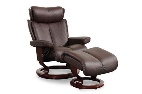 Designer Recliners by Contemporary Medium Swivel Chair And Ottoman In Chocolate