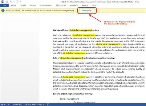 prevent document editing  word  tutorials