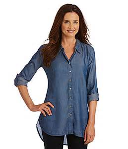 Denim Tunic Tops