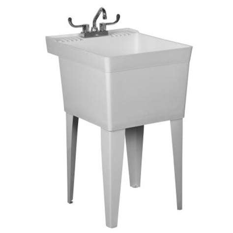Home Depot Slop Sink by Fiat Crane Polyethylene Laundry Tub Sink Kit W Legs