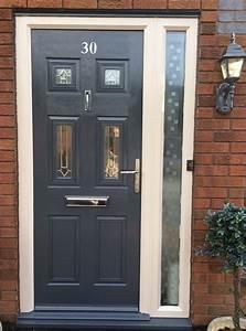 Upvc, Door, Painted, Dark, Gray