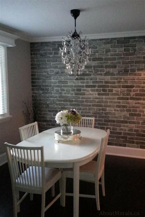 grey brick wallpaper faux brick wallpaper pinterest