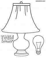 Lightbulb Coloring Bulb Lamp Table Colorings sketch template