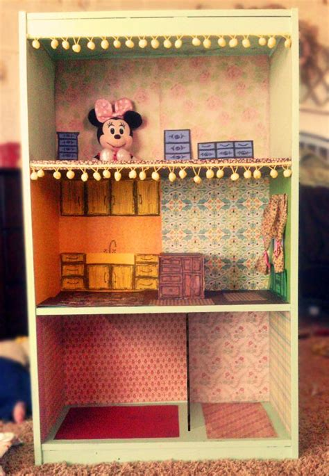 dollhouse kids bookcase white pink foremost diy bookcase dollhouse diy pinterest home bookcases