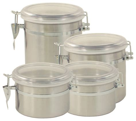 contemporary kitchen canisters excelsteel stainless steel 4 canister set