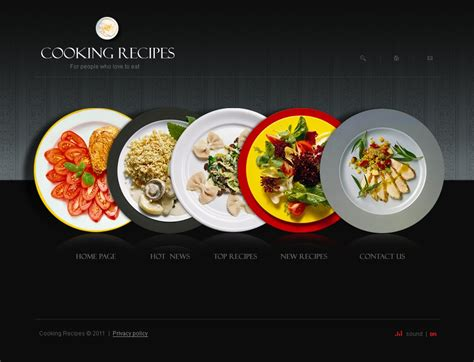 cuisine site cooking swish template 34262