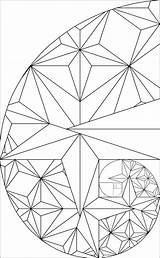 Fibonacci Golden Ratio Rectangle Sequence Coloring Pages Geometry Sacred Designs Triangle Spiral Tattoo Patterns Geometric Math Mandala Tool Deviantart Phi sketch template