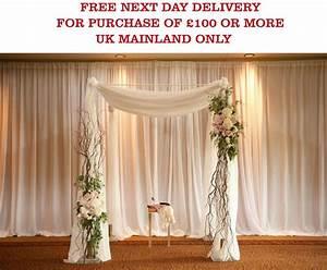 White Ice Silk BACKDROP Wedding Drape Overlay Economy