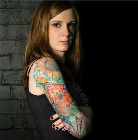 Hot Girls With Sleeve Tattoos ~ Damn Cool Pictures