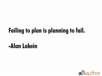Planning Fail Quotes Plan Quote Failing Lakein