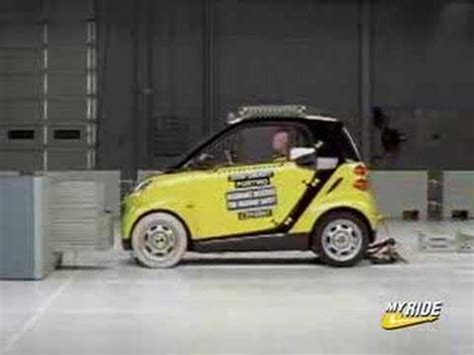 crash test si鑒e auto crash test 2008 smart car fortwo