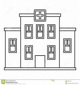 Hospital Building Icon, Outline Style Stock Vector ...