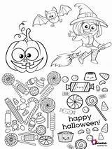 Halloween Coloring Happy Printable Bubakids sketch template