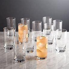 Peak Highball Glasses, Set Of 12  Crate And Barrel