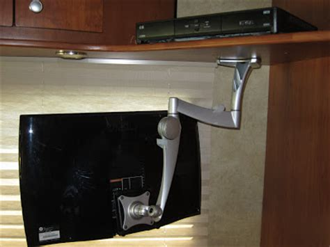 cabinet tv mount kitchen a view from the road upgrading the tv in a winnebago view 8680