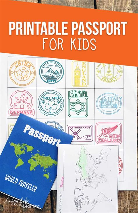 printable passport  kids