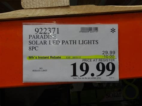 led tube lights costco paradise solar led pathway lights