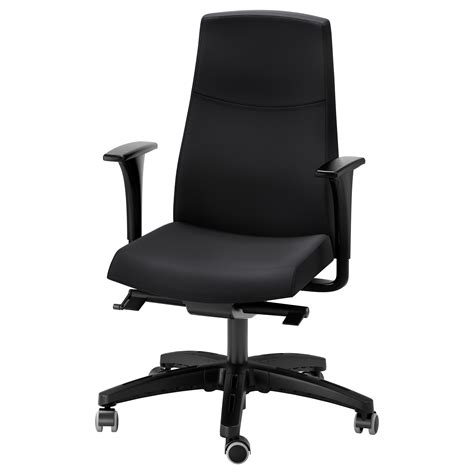 volmar swivel chair with armrests black ikea