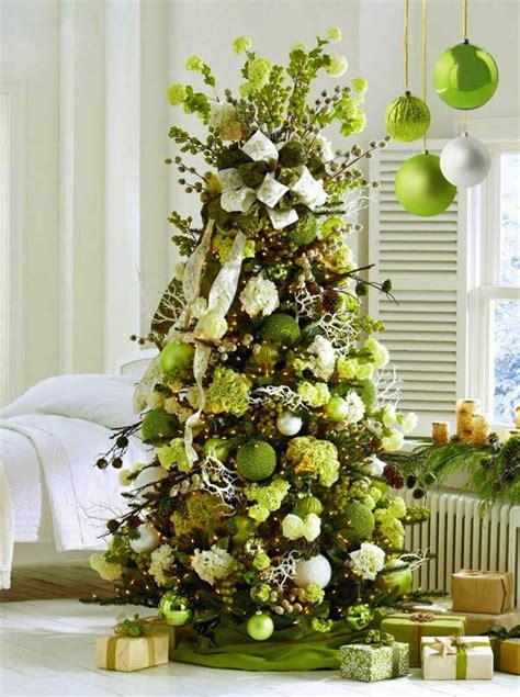 green tree decorations green christmas tree decorations home decorating trends homedit