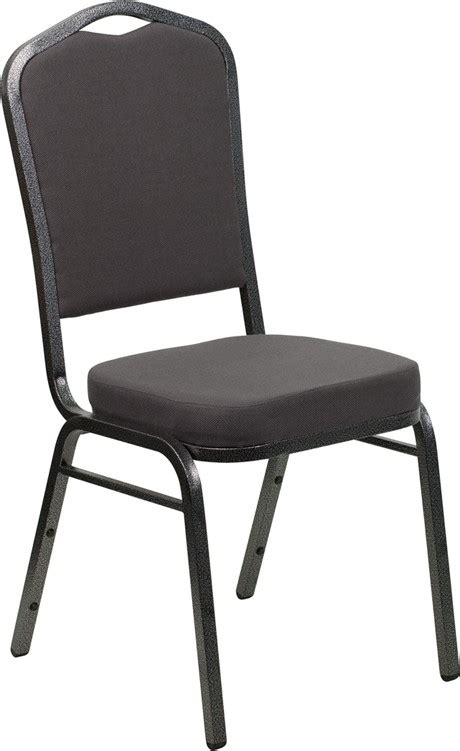 Hercules Stacking Banquet Chairs by Hercules Series Crown Back Stacking Gray Fabric Banquet