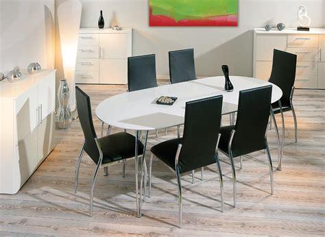 table cuisine moderne design table de salle à manger design extensible blanche