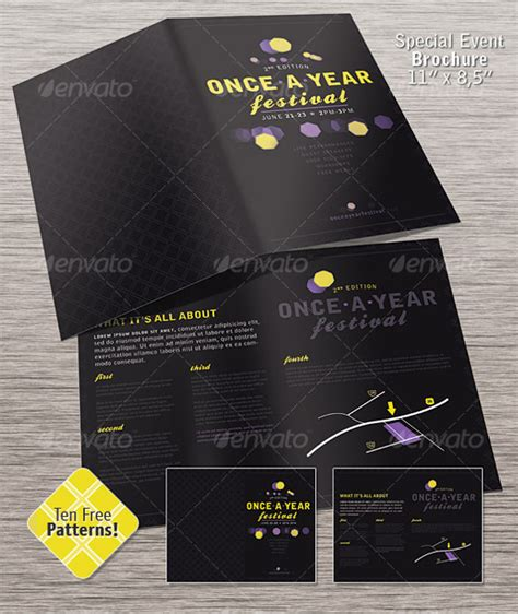 event brochure samples  psd eps apple pages