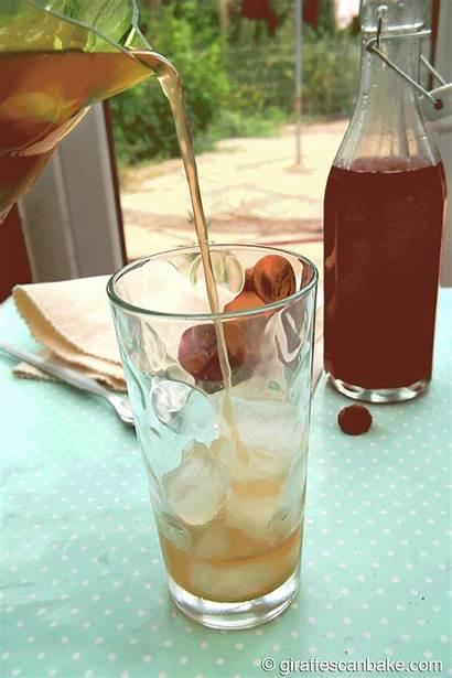 Tea Iced Raspberry Peach Giraffescanbake Giraffes Bake