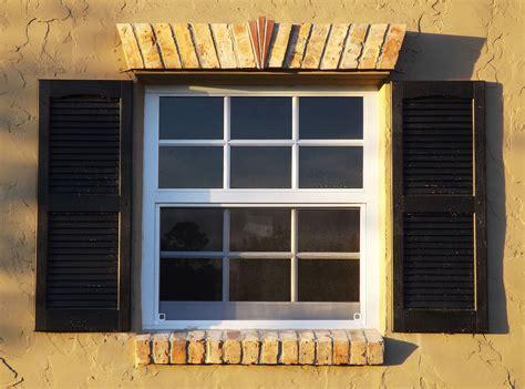 Premium Vinyl Open Louver Window Shutters