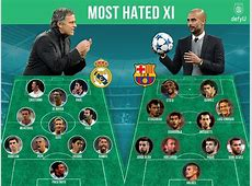 Real Madrid vs Barcelona The most hated El Clasico XIs of