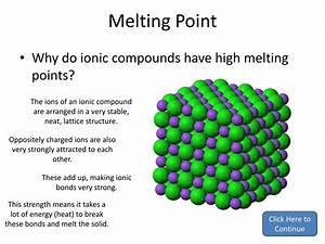 Ionic Bonding Model Melting Point