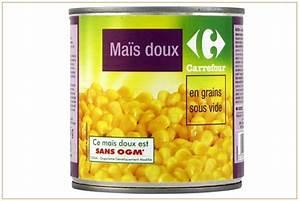 Rappel de conserves de maïs doux de marque Carrefour