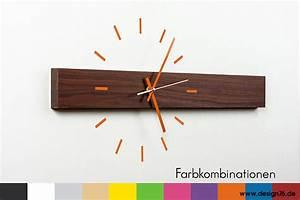 Moderne Wanduhren Design : design wanduhr nussbaum zifferblatt online kaufen ~ Markanthonyermac.com Haus und Dekorationen