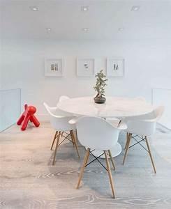 Meubles salle a manger idees en 80 photos exquises for Idee deco cuisine avec chaises blanches pied bois