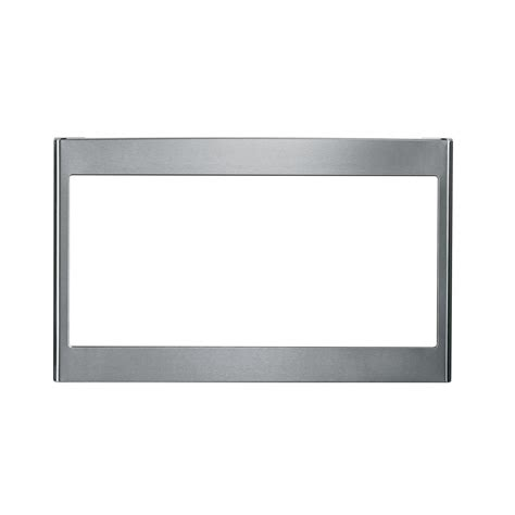 ge profile appliances whirlpool 30 in microwave trim kit in stainless steel