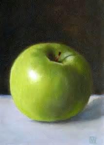 Green Apple Still Life Paintings