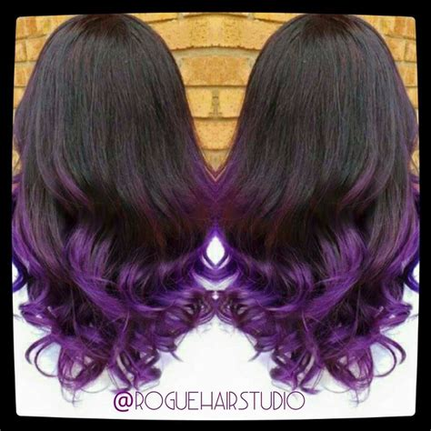 Brown To Violet Ombre By Melissa Meacham All Things Hair