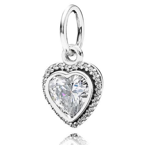 pandora sparkling love pendant charm cz pandora