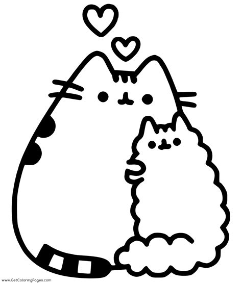 pusheen  food coloring pages  coloring pages