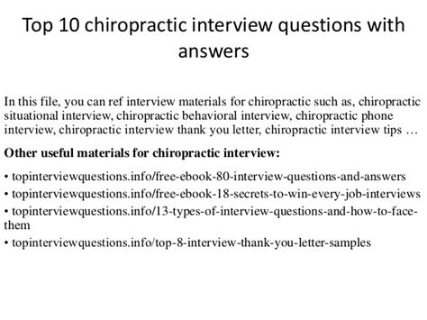 top 10 chiropractic questions with answers
