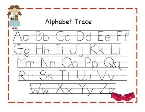 alphabet tracer pages for activity shelter 269 | alphabet tracer pages preschool