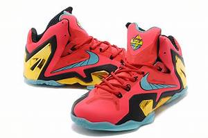 Cheap Lebron 11 Elite Red Golden Black Yellow Hot Sale ...