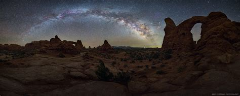 arches  arches  night sky journey   iconic