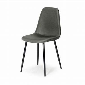 Chaise De Sejour : chaise de s jour valberg noir gris anthracite ~ Teatrodelosmanantiales.com Idées de Décoration