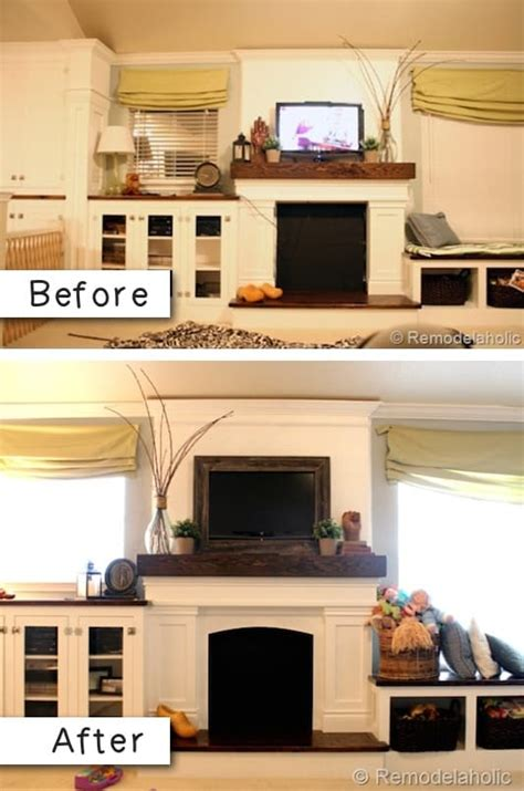 remodeling easy projects transform diy renovation tv completely room living before budget tips listotic improvement renovations frame kitchen difference wall