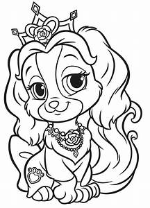 Palace Pets Coloring Pages The Sun Flower Pages