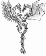 Dragons Dragon Heart Fire Cool Ice Tattoo Entwined Sketch Valentines Drawings Deviantart Valentine Drawing Tattoos Background sketch template
