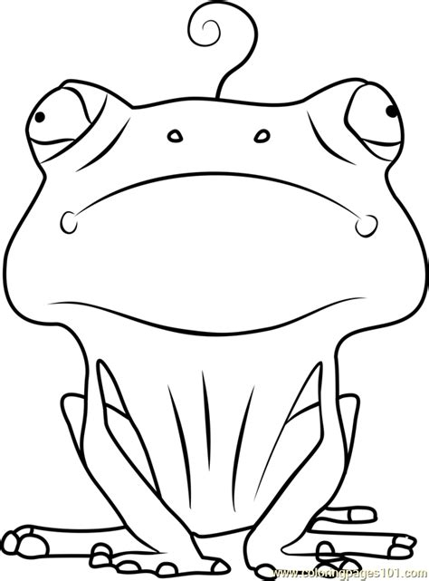 frog coloring page  larva coloring pages