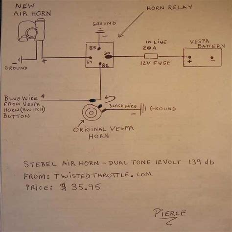 Stebel Nautilu Air Horn Wiring Diagram by Modern Vespa Stebel Nautilus Air Horn