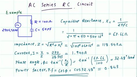 Series Circuit Impedance Current Phase Angle
